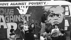 Rolf Harris paints a mural at an event for the Move Against Poverty campaign, Liverpool. 1978
