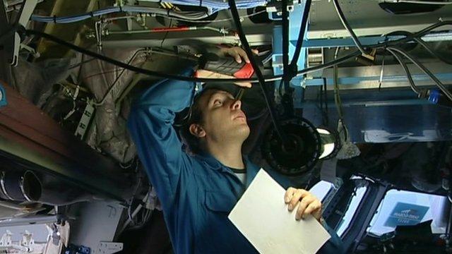 Work on plane
