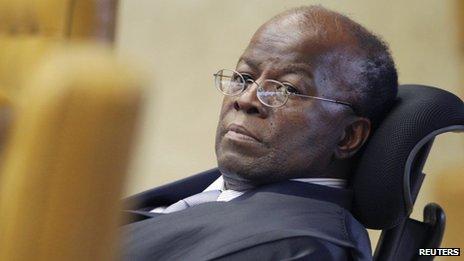 Supreme court judge Joaquim Barbosa
