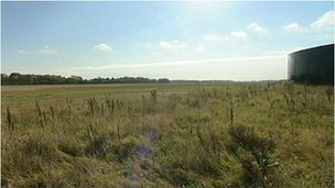 The land at Fareham where ib vogt GmbH wants to build the solar farm