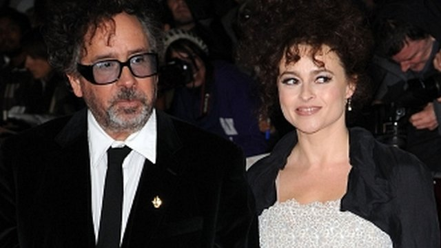 Tim Burton and Helena Bonham Carter attend the premiere of Frankenweenie