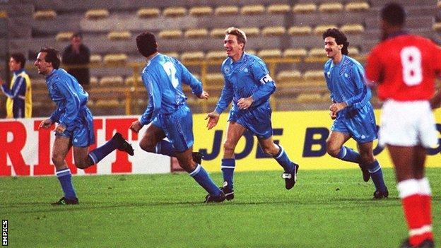 San Marino score against England
