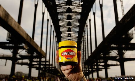 Vegemite on Sydney Harbour Bridge
