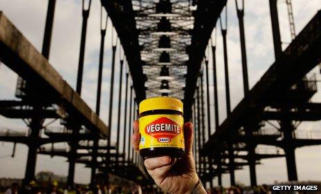 Vegemite on Sydney Harbour Bridge