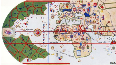 News why modern maps put everyone at the centre of the world this map the first to show america was created in 1500 by the spanish sailor juan de la cosa he accompanied christopher columbus on his first two voyages gumiabroncs Images