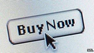 Buy now symbol on a website