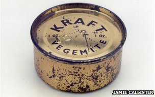 Wartime tin of Vegemite
