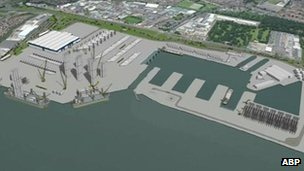 Image of planned Green Port