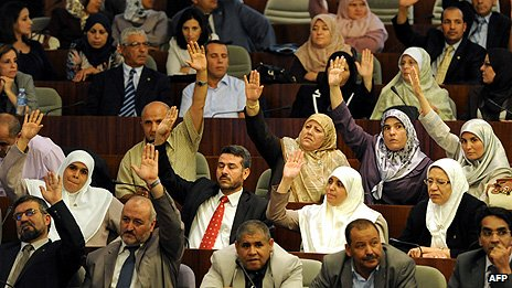 MPs in the Algerian parliament