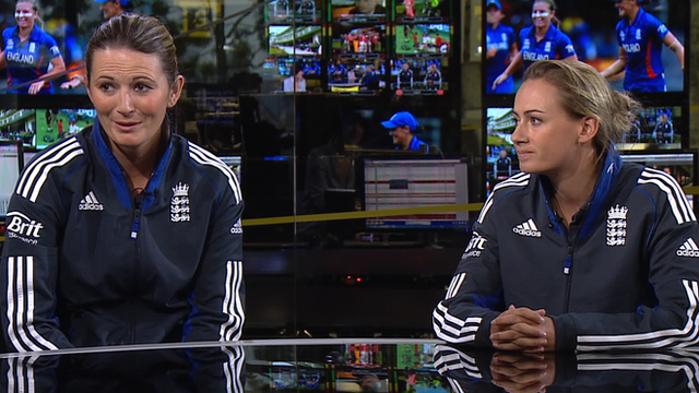 Charlotte Edwards and Laura Marsh