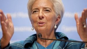 International Monetary Fund (IMF) head Christine Lagarde