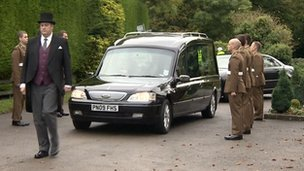 The funeral of Capt James Townley in Somerset