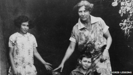 Doris Lessing as a child with her mother and brother