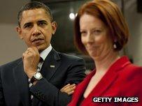 Obama Gillard