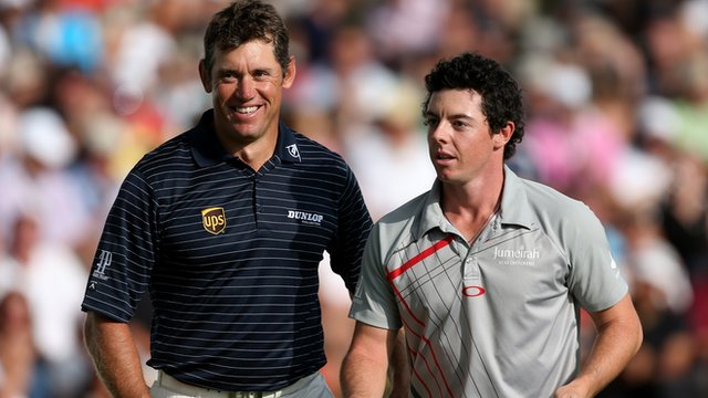 Lee Westwood with Rory McIlroy