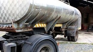 A fuel tanker was seized in one of the raids