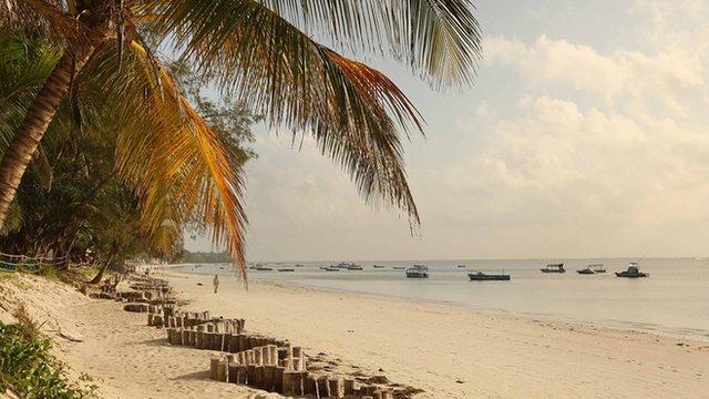 Beach near Mombasa's seafront