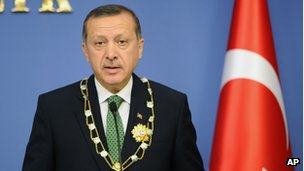 Turkish PM Recep Tayyip Erdogan speaks in Ankara (11 Oct 2012)
