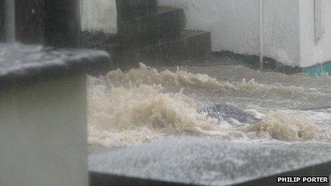 Flooding in Cardigan
