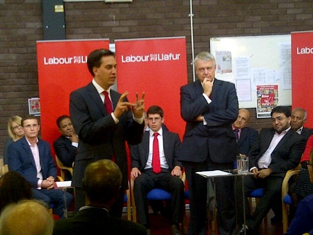 Ed Miliband and Carwyn Jones