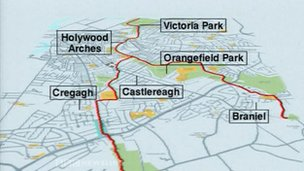 Connswater Community Greenway project map