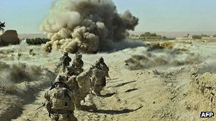 US troops clear roads of IEDs in Panjwai district. 23 Sept 2012