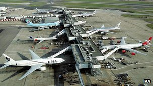 Jets at Heathrow, UK - file pic