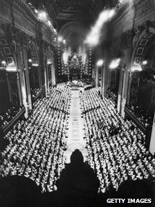 The bishops in St Peter's Basilica, 29 September 1963