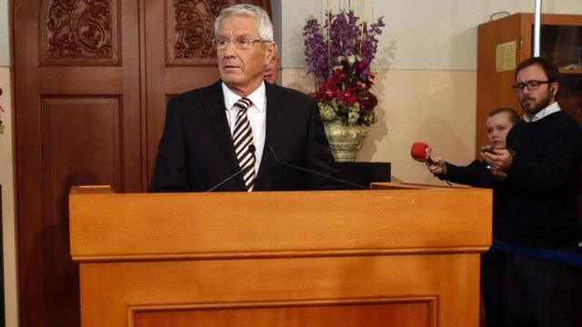 Norwegian Nobel Committee Chairman Thorbjoern Jagland