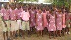 Schoolchildren in Ghana, West Africa