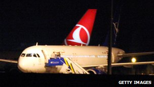Plane at Ankara airport