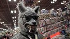 A man dressed up as a werewolf