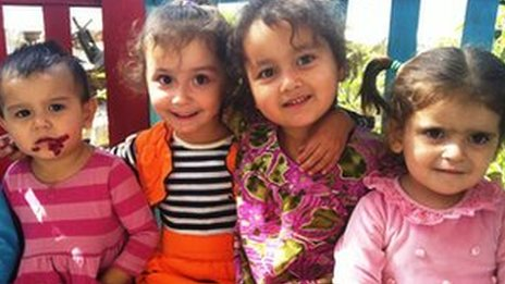 Girls at Orphanage No. 1 in Dushanbe