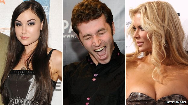 Sasha Grey, James Deen and Jenna Jameson
