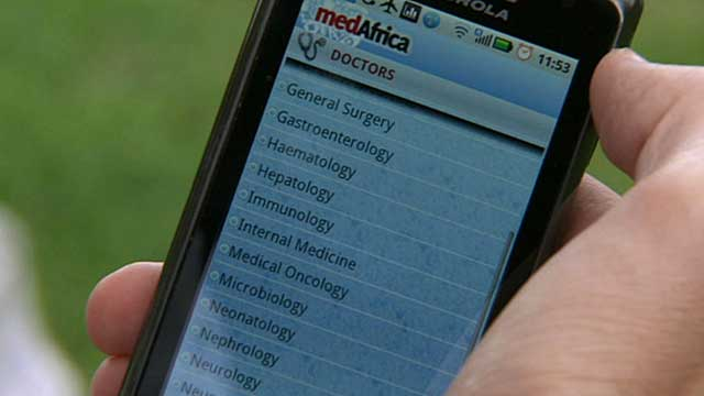A Kenyan medical app on a smartphone