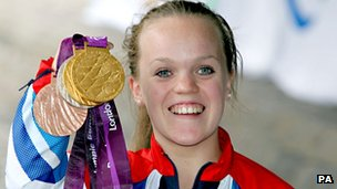 Ellie Simmonds with her Paralympic medal haul