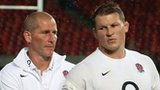 Stuart Lancaster and Dylan Hartley