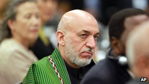 File photo: Afghan President Hamid Karzai