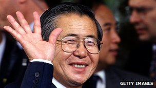 Peruvian ex-president Alberto Fujimori