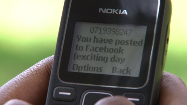 Mobile phone using Facebook