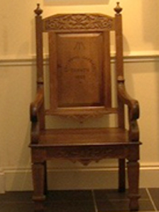 The 1889 Eisteddfod chair