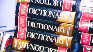 A pile of dictionaries