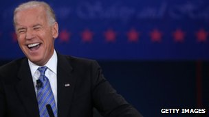 Joe Biden at the vice-presidential debate in Danville, KY 12 October 2012