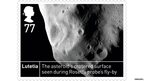 Stamp of Lutetia asteroid