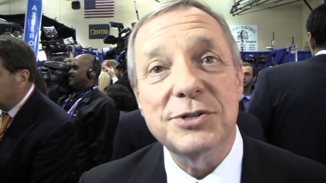 Illinois Senator Dick Durbin in the VP debate spin room