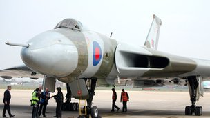 Vulcan Bomber XH558 at Robin Hood Airport