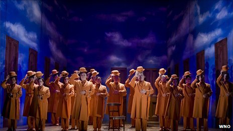 The chorus in the Welsh National Opera&#039;s production of The Magic Flute