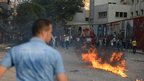 Petrol bomb explodes in Cairo. 12 Oct 2012