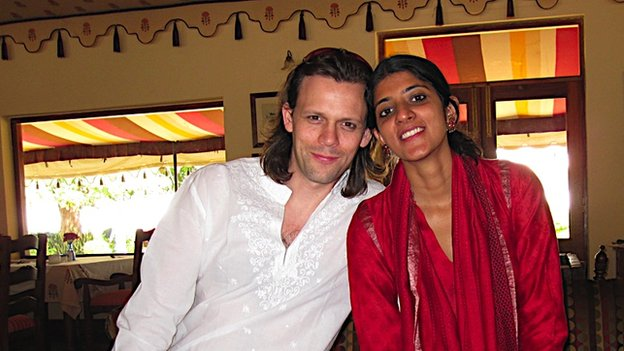 Sean and his wife Archana