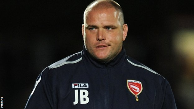 Morecambe boss Jim Bentley
